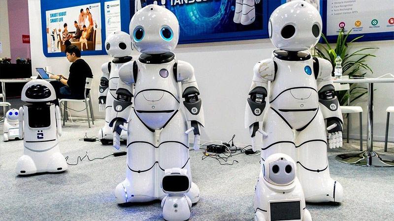 展会上的机器人
